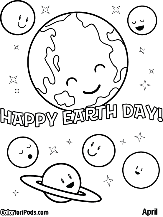 Coloring Pages For Month Of April : Month of april coloring pages