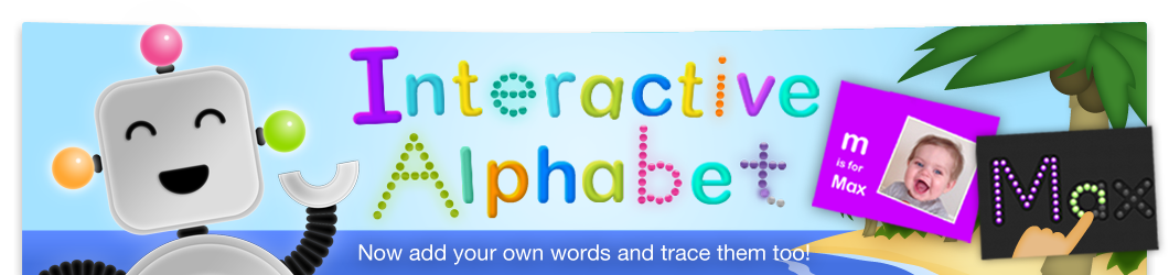Interactive Alphabet app for iPad iPhone and iPod Touch