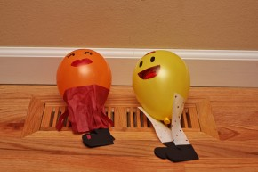 Dancing Balloons on vent