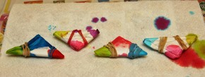 Tie Dye Triangles
