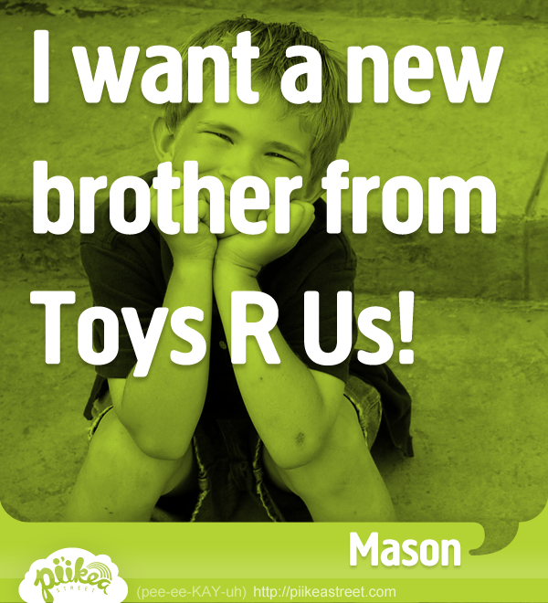 Things Kids Say: New Brother