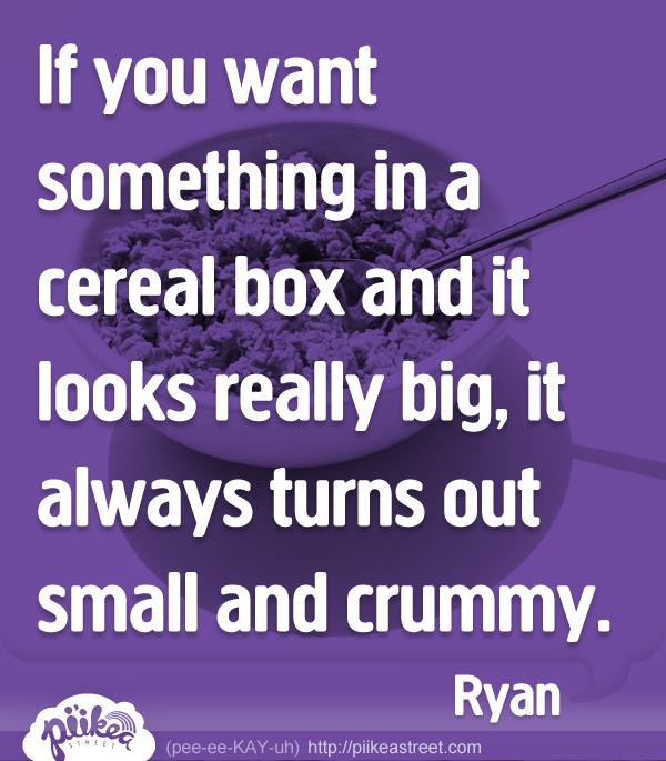 Things Kids Say: Cereal Box