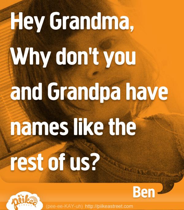 Things Kids Say: Names