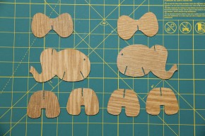 Faux Bois Elephants Pieces