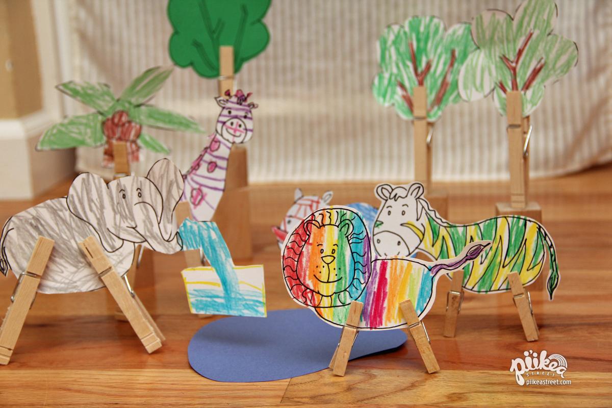 clothespin animals crafts