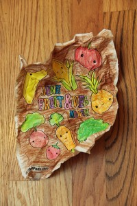 Cracked Coloring Page Crumpled