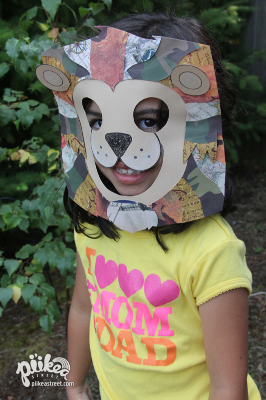 Lion Mask Scrapbook Paper Play
