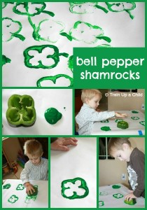 Bell Pepper Shamrocks - Simple craft for kids! (8)
