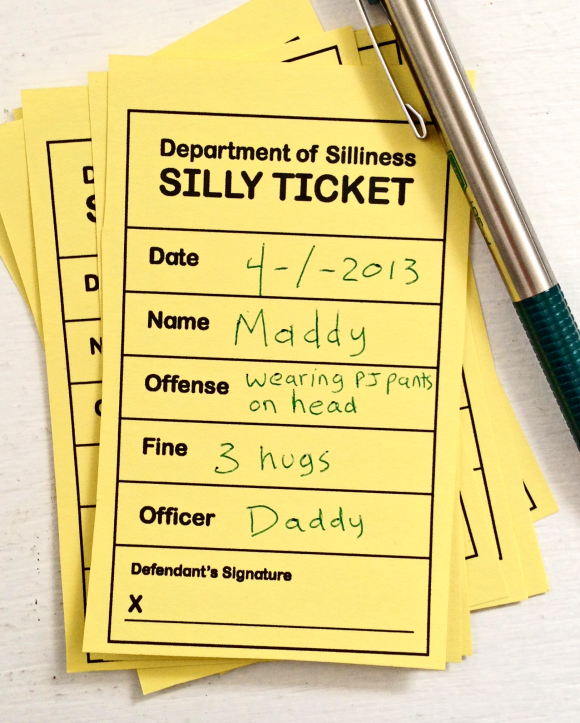 Printable Silly Tickets