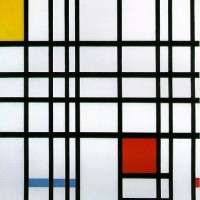 Composition with Yellow, Blue and Red by Piet Mondrian (1937-1944)