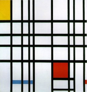 Composition with Red, Yellow, and Blue by Piet Mondrian (1921)