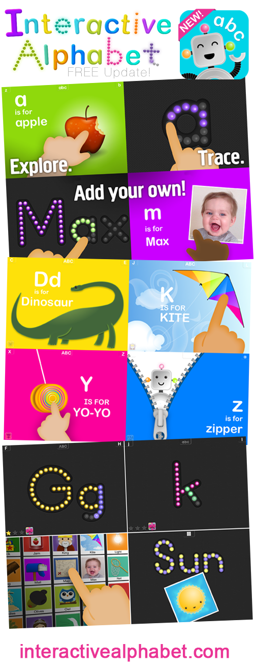 Interactive Alphabet now with Tracing and Custom Words!
